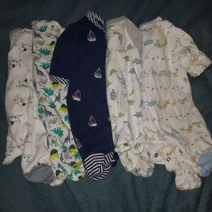 Preemie boys Bundle sleepers
